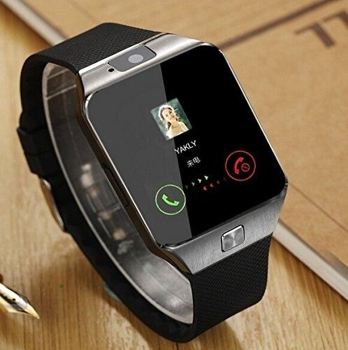 imágenes para Smartwatch + desbloqueado reloj teléfono celular todo en 1 reloj bluetooth para iphone android samsung galaxy note, nexus, htc, sony negro