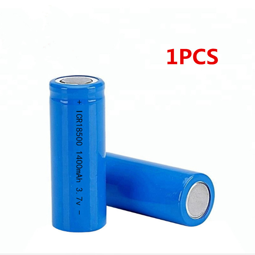 1Pcs/Lot <font><b>3.7V</b></font> <font><b>18500</b></font> 1400mAh rechargeable lithium <font><b>battery</b></font> <font><b>3.7V</b></font> strong light flashlight anti-light special lithium <font><b>battery</b></font> image
