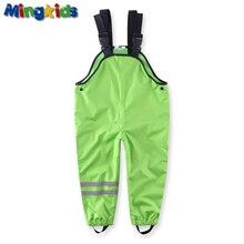 Mingkids водонепроницаемый комбинезон мальчик весна осень лето хлопковая подкладка дышащие штаны от грязи штаны от дождя полукомбинезон мальчик фирменная одежда для детей брюки европейский размер