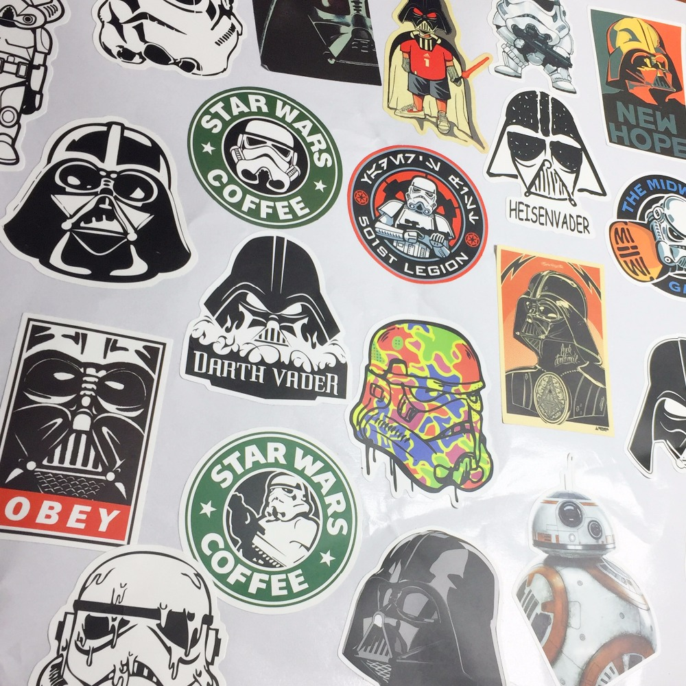 25 pcs star wars kinds waterpoof wall sticker bedroom for Star home decorations