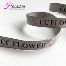 1/4(6mm) Grosgrain ribbon customized logo printed, decoration Personalized wedding invitations 100yard/lot
