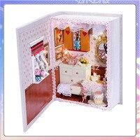 B002 girlfriends diary book mini diy doll house Voice lED lights dollhouse model diy handmade gift ideas birthday gift for toys