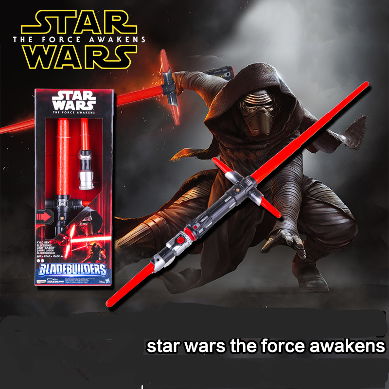 Original 2015 Star Wars VII The Force Awakens Kylo Ren Lightsaber PVC Figure Collectible Model Toy 50cm Retail Box WU088