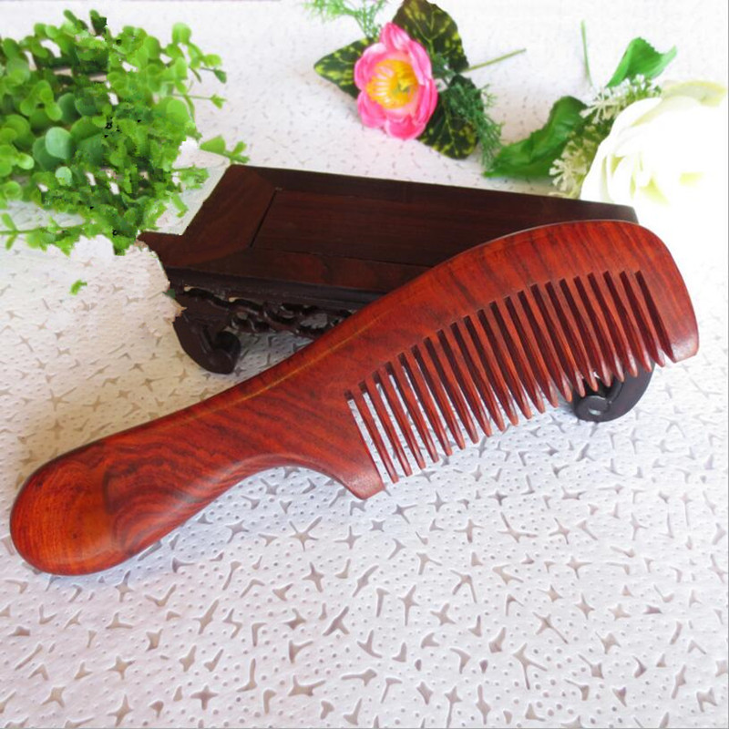 Natural Laos red woods Comb for hair Massage Wide Tooth No-static Hair Brush Wooden Combs peine hairbrush massager