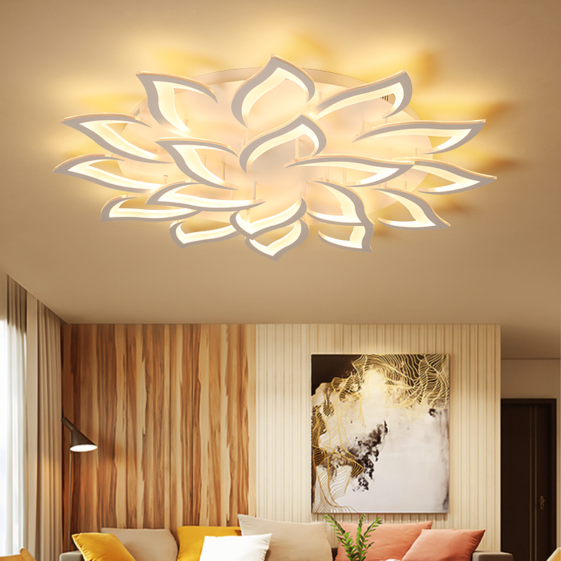 Acrylic modern led ceiling chandelier large luxury living room bedroom dining room study RC dimming home decoration chandelierAcrylic modern led ceiling chandelier large luxury living room bedroom dining room study RC dimming home decoration chandelier