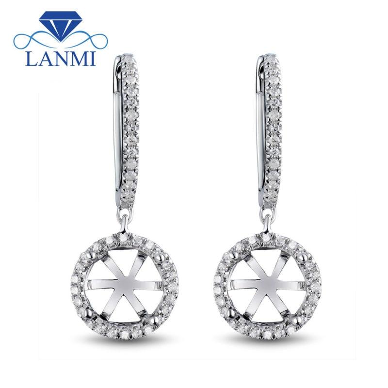 Золоті сережки 14K з діамантами 8 мм, - Вишукані прикраси