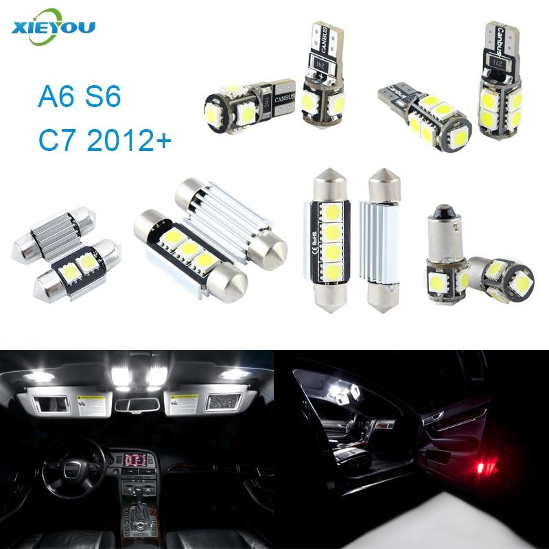 XIEYOU 13stk LED Canbus interiørlys pakke for A6 S6 C7 - Billykter