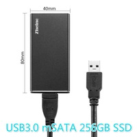 Zheino P3 256GB USB3 0 External Aluminum Case Super Speed With MSATA Solid State Drive For