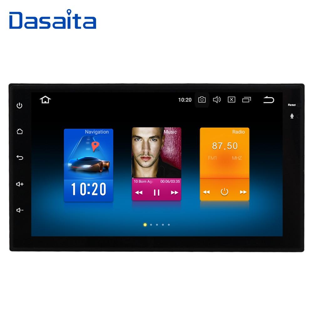 Dasaita 7 Android 8.0 Voiture GPS Radio Lecteur pour Deux Din Universel avec Octa Core 4 gb + 32 gb Auto Stéréo Vidéo Navi Multimédia