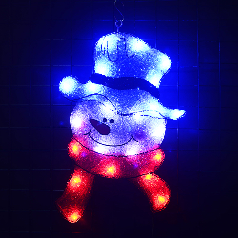 24V navidad EVA snowman festival light - 17.9 in. Tall christmas tree light hanging holiday lights festoon lights home decor stylish christmas snowman embroidery festival beanie for men and women