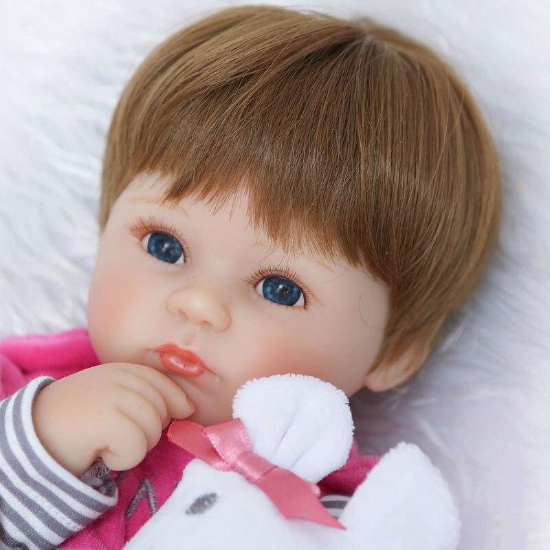 Muñeca de la manera 17 pulgadas Muñeca Reborn de Silicona Suave - Muñecas y accesorios - foto 1