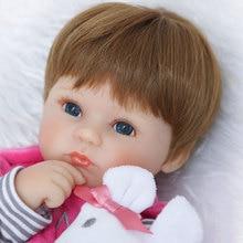 Poupée De Mode 17 pouces Souple Silicone Reborn Poupée Jouets 45 cm Kawaii Bébé Poupée Nouveau-Né Bebe Bonecas Réaliste Relistic Dolls Brinquedos