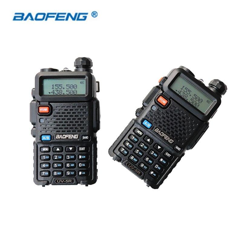 2 PCS UV-5R Baofeng JAMBON CB Radio Talkie Walkie Double Bande UV5R Portable Émetteur-Récepteur VHF UHF FM UV 5R Radios 128CH Walky Talky