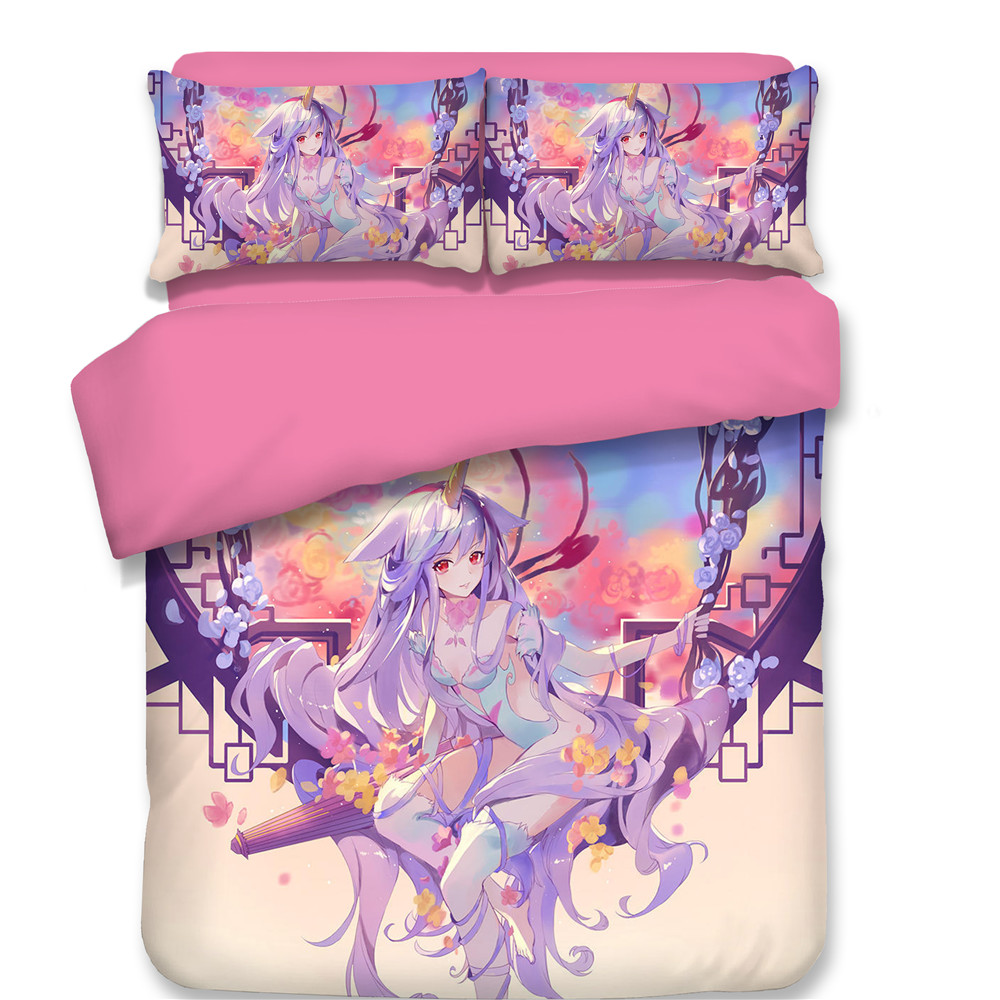 3pcs set Anime Hatsune Miku 3D Printed Bedding Sets With Pillow Cases pink Duvet Cover for