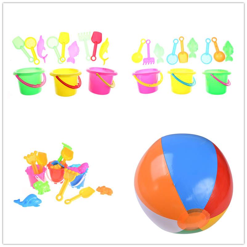 4/6pcs/Set Summer Beach Sand Play Toys Sand Water Toys Kids Seaside Bucket Shovel Rake Kit Play Toy Children Tools Hot