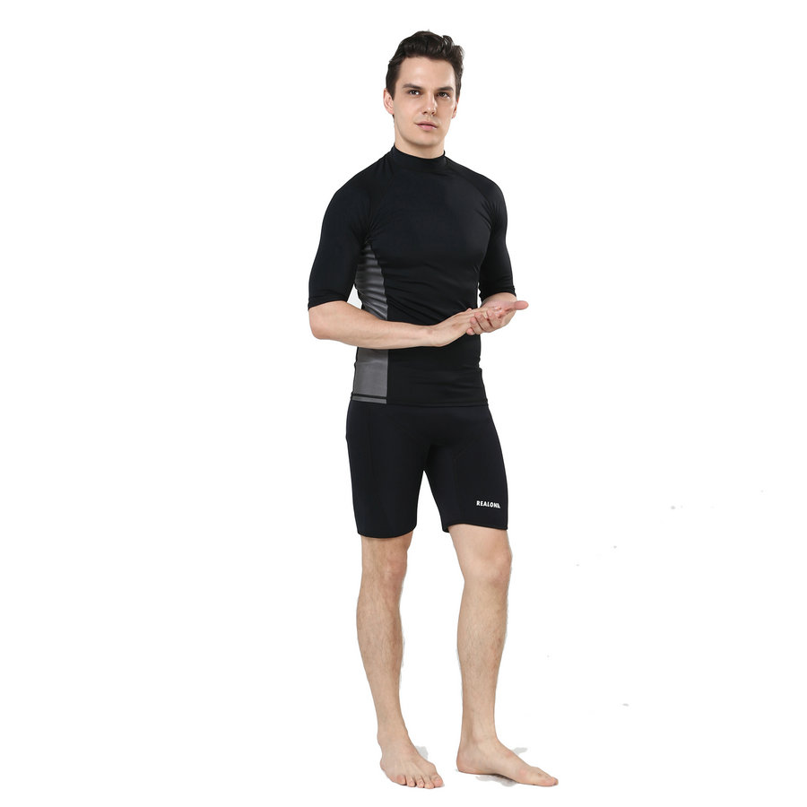 Realon Rash guard Protección solar Buceo Mangas largas Traje de - Ropa deportiva y accesorios