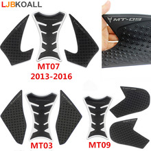 For Yamaha MT03 2015-2016 MT07 2013-2017 MT09 2014-2018 MT 03 MT 07 MT 09 Protector Anti slip Tank Pad Sticker Gas 3M Decal New for yamaha mt 09 mt09 mt 09 2014 to 2017 2018 motorcycle protector anti slip tank pad sticker gas knee grip traction side decal