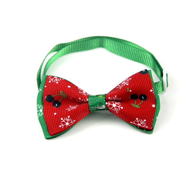 Bajila Adjustable Dog Cat Pet Bow Tie Necktie Collar Clothes Bowtie Christmas Apparel