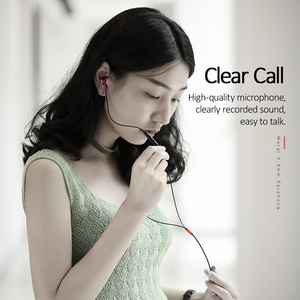 Image 5 - USAMS ב אוזן 3.5mm אודיו אוזניות מתכת Hifi Wired אוזניות מיקרופון 4D סטריאו wired אוזניות עבור iPhone 6s se סמסונג Xiaomi