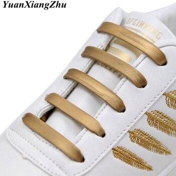 12 pièces/16 pièces élastique Silicone lacet pratique à la mode hommes femmes paresseux marteau Type chaussures lacets baskets pas de lacets 1