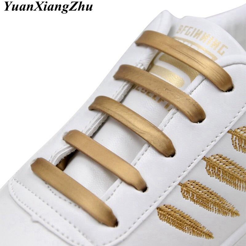 12pcs/16pcs Elastic Silicone Shoelace Practical Fashionable Men Women Lazy Hammer Type Shoe Laces Sneakers No Tie Shoelaces