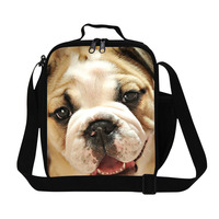 Trendy 3D Animal Children Lunch Box Cute Dog Print Thermal Bag For Food Women's Picnic Bag Insulated Lunch Bags Shoulder Bags