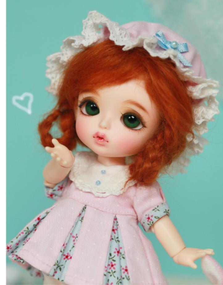 1/8 Caso Branca de Neve boneca bjd boneca Bjd Amarelo Cabeca Chu ver. Sophie