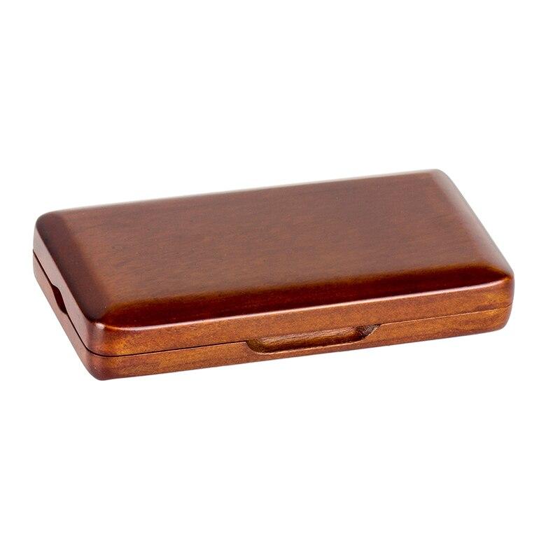 Caja de almacenamiento de arce de juncos de Oboe para unids 3 piezas de accesorios de piezas musicales de Color castaño