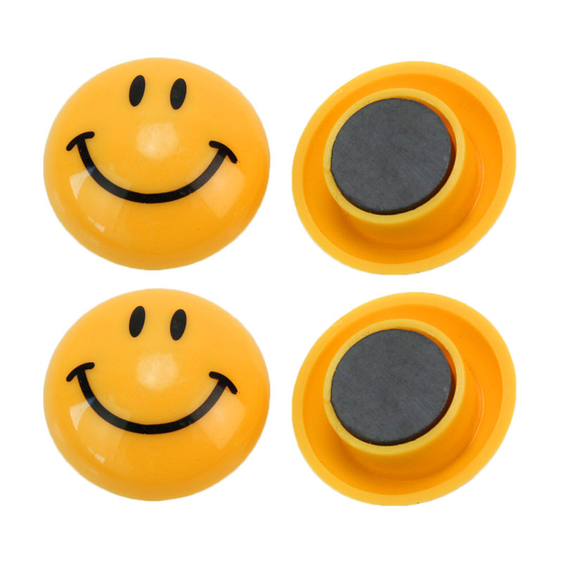 6pcs Lot Round Shape Cartoon Emoji Smile Face Fridge Magnet