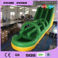 Free Shipping 15*5*6m Giant Inflatable Water Slide Inflatable Slide With Pool For Kids