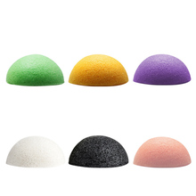 1pc Cute Colored Natural Konjak Facial Cleansing Sponge Ball Makeup Remover Wash One's Face Sponge Random Colors Z3