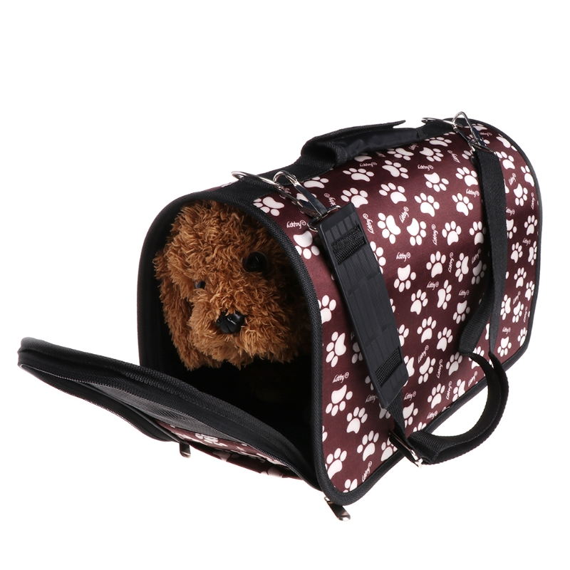 Pets Carrier Bags Fabric Foldable Travel Outdoors Portable Backpack For Dogs Cat
