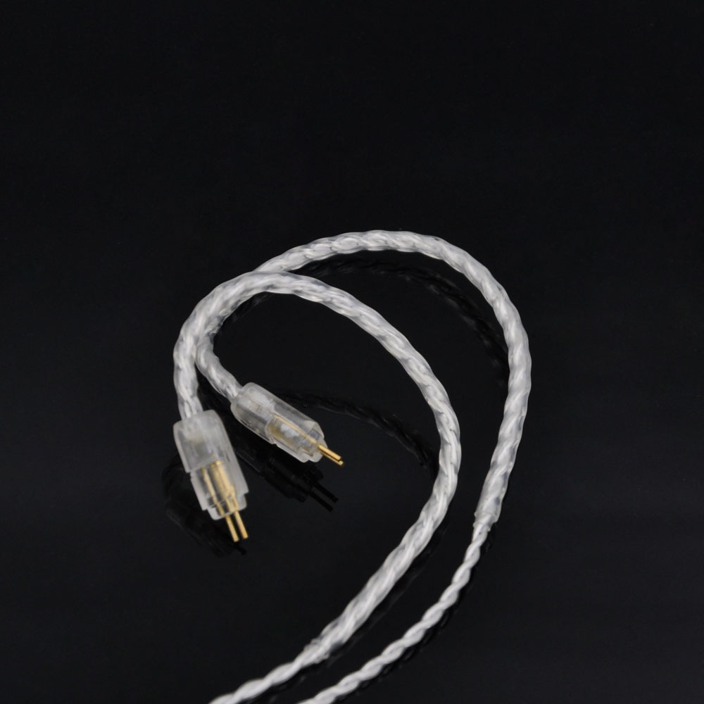 2016 New 2pin 4 Cell Single Crystal Copper Plated Silver Cable Earphone Upgrade Cable for Custom Earphone 0.78 PIN new 2pin 0 78 pin 4 cell single crystal copper plated silver cable earphone upgrade cable for custom earphone