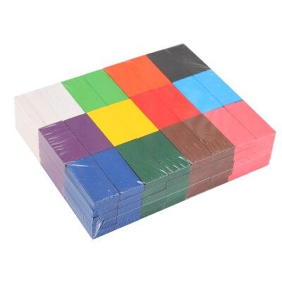 Смесь цветов домино деревянные игрушки кубики безопасная, из дерева игрушки для детей интеллектуальная игра взрослых Игрушка антистресс Семья игры Новинка подарки - Цвет: 120pcs Only No Block