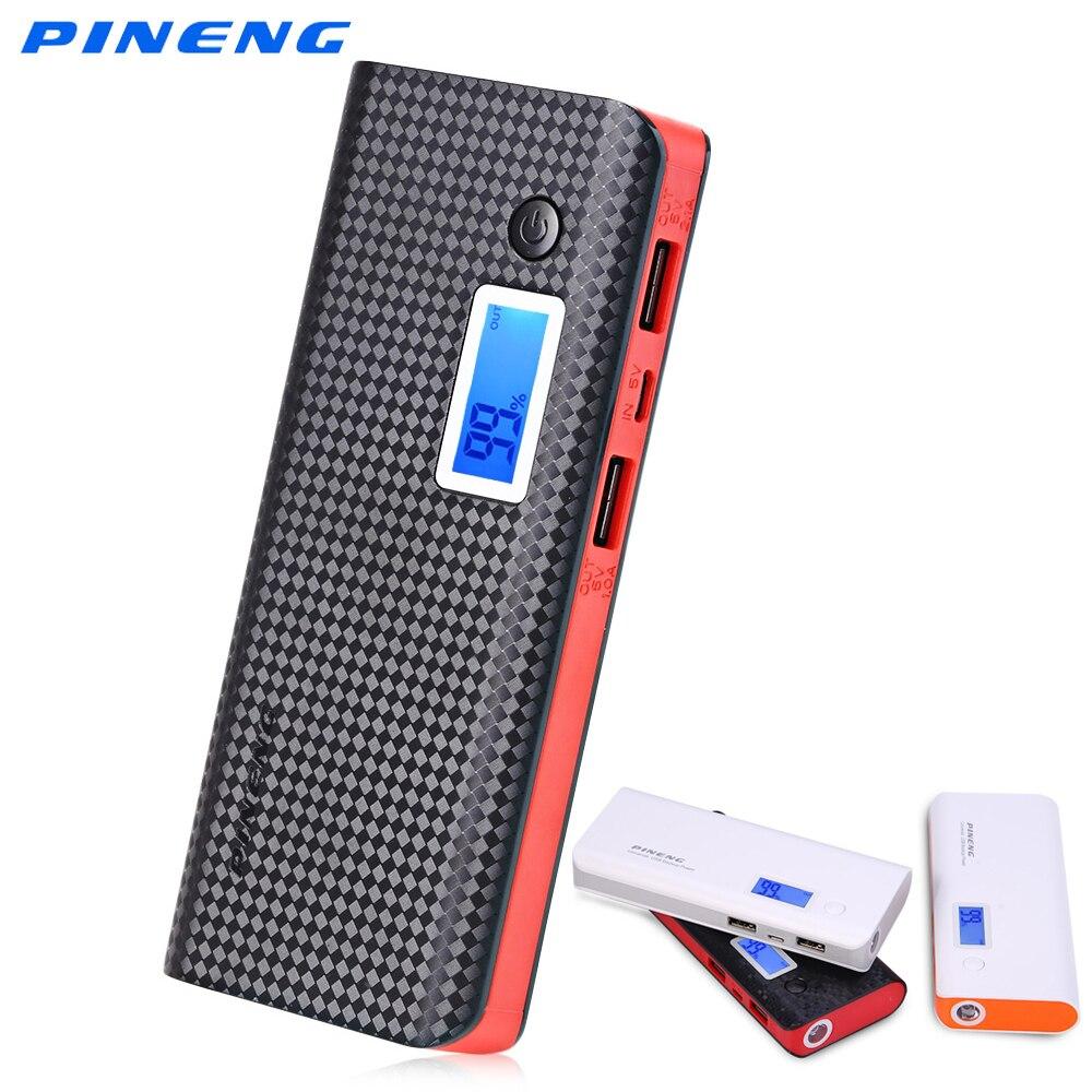 bilder für PINENG PN-968 10000 mAh Energienbank Dual Usb-ausgang Externes Ladegerät Pack Unterstützung LCD Display Taschenlampe