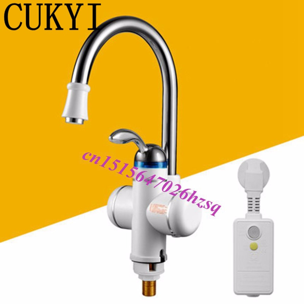 CUKYI 220V 3000W 3sec Instant Tankless Electric Water