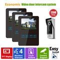 Homefong VideoIntercom Door Phone Doorbell Intercom  4inch Black 4 Wires 1V3 Slim Design HD Night Vision 1200TVL Waterproof