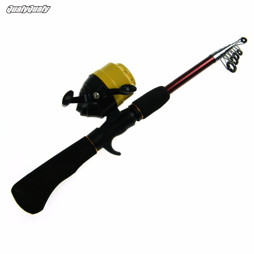 1.8m/5.9ft Mini Portable Casting Lure Fishing Rod Reel Set Kit Combo Carbon Surf Casting Rod Spin Cast Reel Fishing Tackle