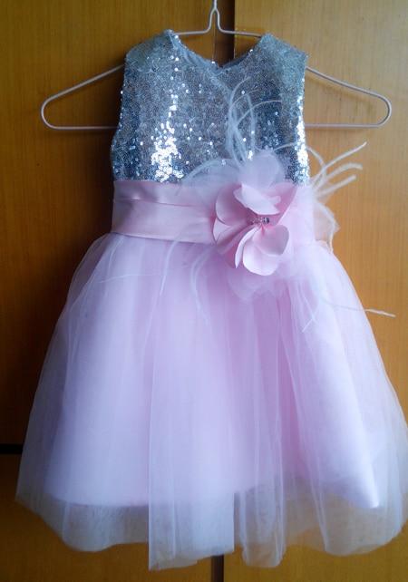 2015 Real Flower Girl Dresses with Flower Ball Party Pageant Dress for Little Girls Kids/Children Dress for Wedding Communion