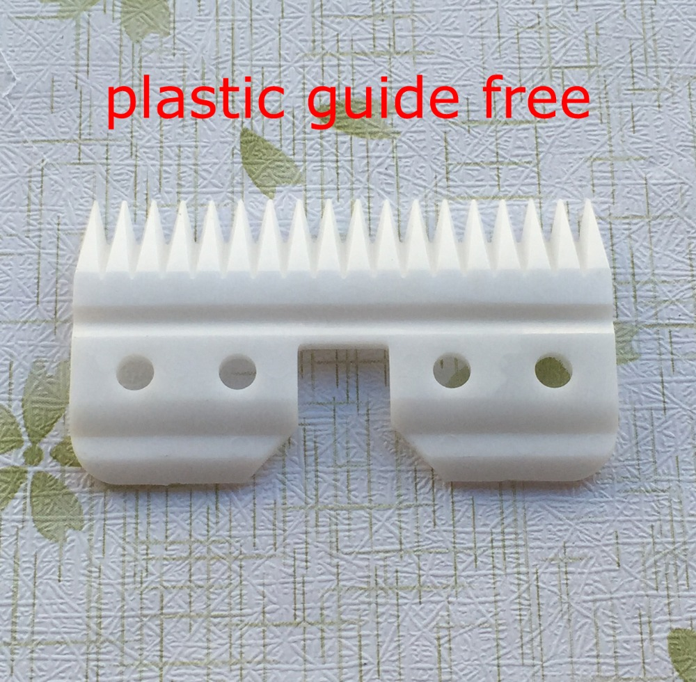 20pcs lot 18teeth or 25teeth Pet clipper ceramic moving blade standard oster A5 blade size high