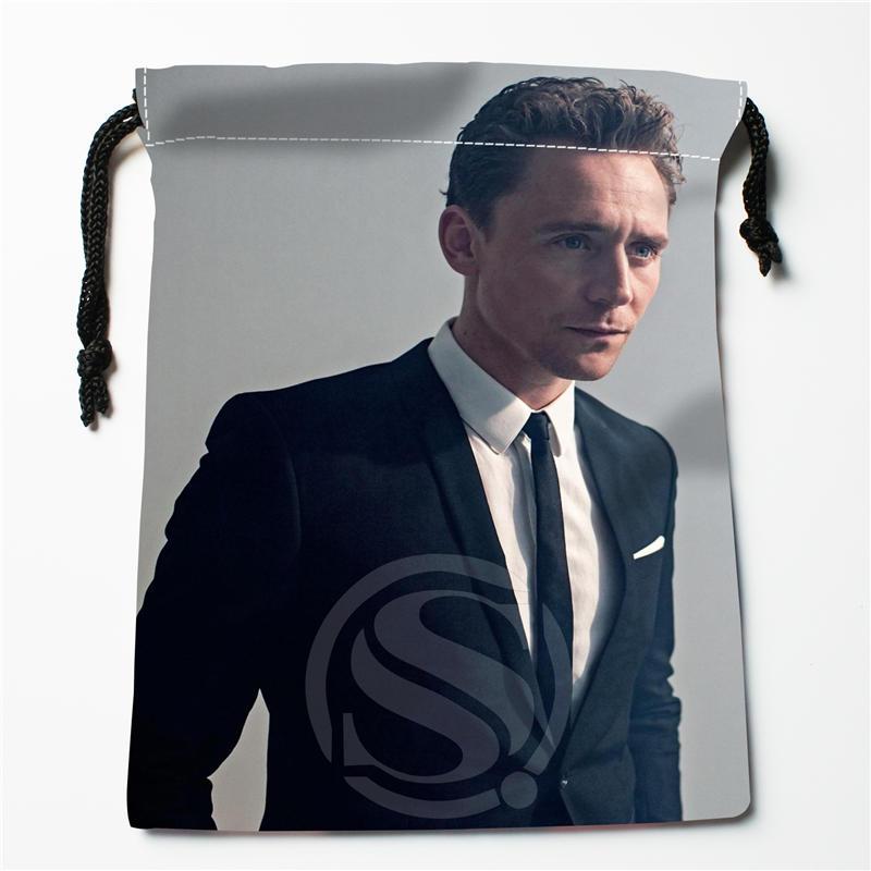 A&ix48 New Tom Hiddleston Custom Logo Printed  Receive Bag  Bag Compression Type Drawstring Bags Size 18X22cm 712q#x48