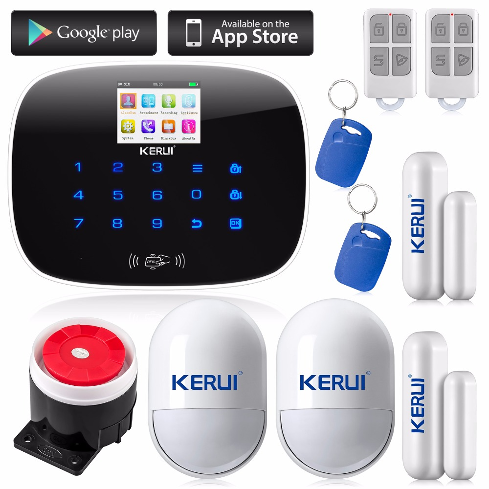 Russian English language new G19 Intelligence home Wireless LCD Security GSM Autodial Home Office Burglar Intruder