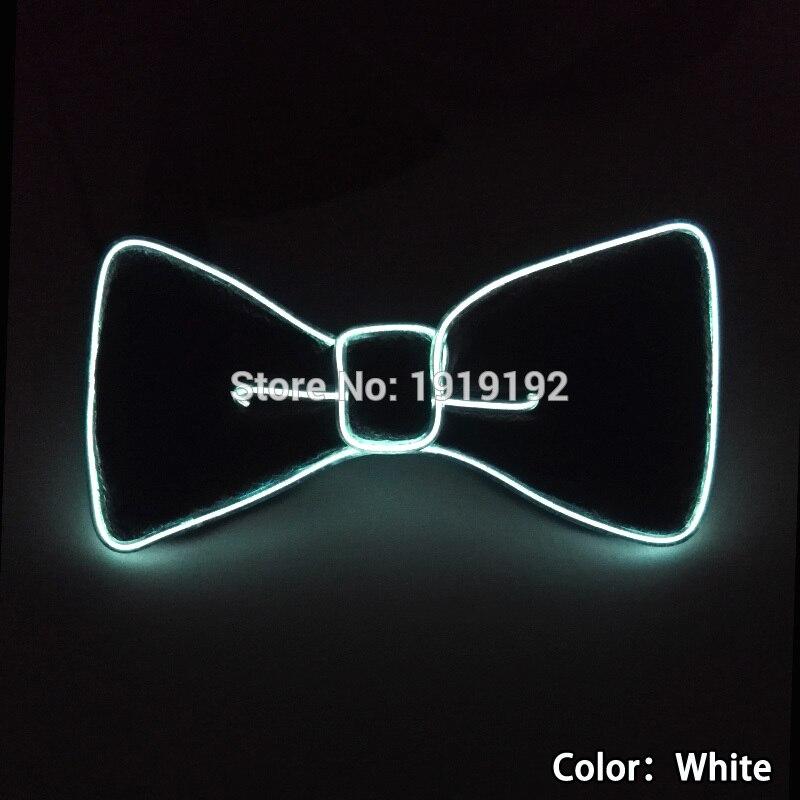 2017 Ljud aktiverat 10 Färg Mode Design Glödande Blinkande LED Bow - Semester och fester - Foto 3