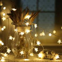 10m 100 LEDs LED Star String Warm White Star String For Holiday Wedding Party Christmas Tree