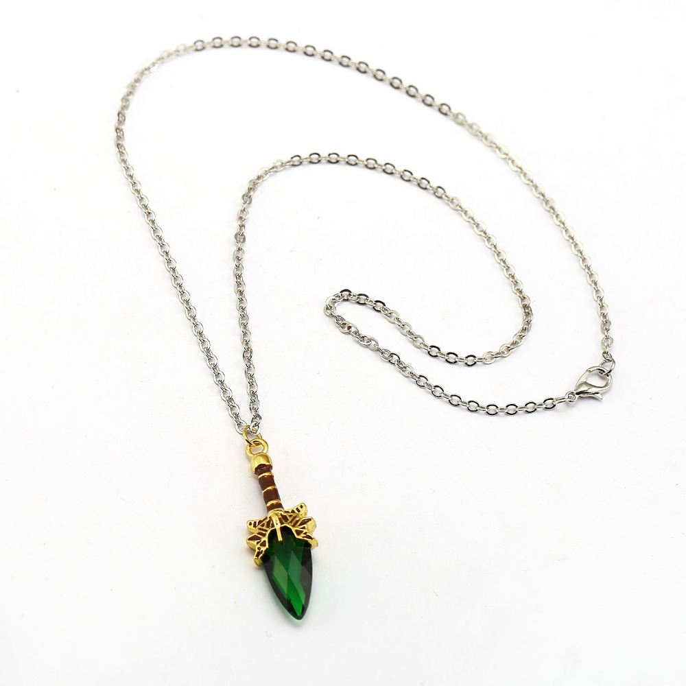 3 Colors Hot Game DOTA 2 Necklace Aghanim's Scepter Pendant Necklaces Crystal Collier Friendship Accessories