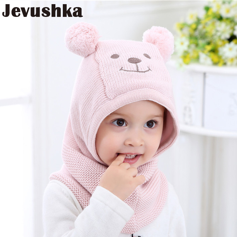 f468360b Winter Warm Knit Baby Girls and Boys Pompom Hat with Warm Fleece Lining  Cute Bear Ears Hats for Kids Beanie Gorro | AMAZINGSTORE4U