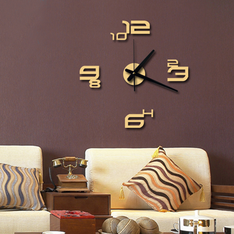Creative DIY Digital Wall Clock Mute Yakeli Bracket Sitting Room Bedroom Decorative Art Contemporary Contracted ZL6 In Clocks From Home Garden