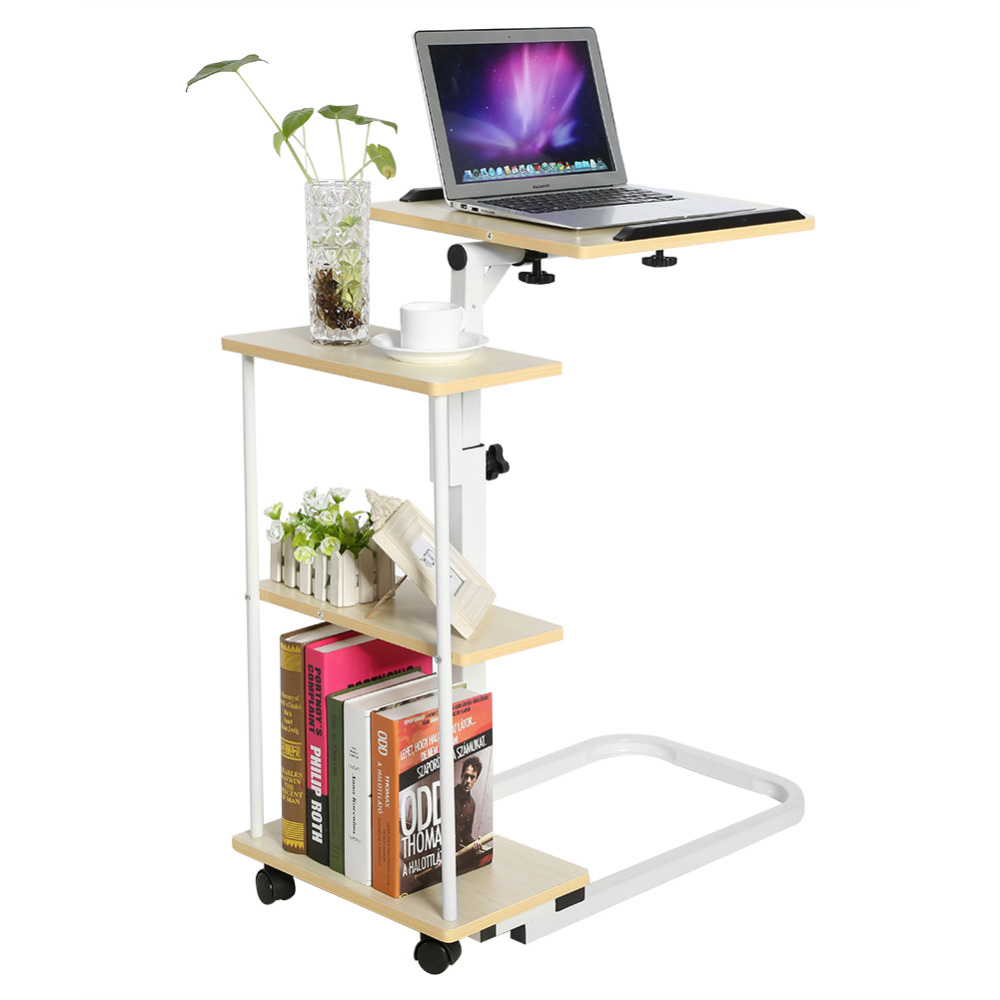 Multi function Computer Table Height Adjustable Overbed/Sofa Table Laptop Cart Computer Desk ...