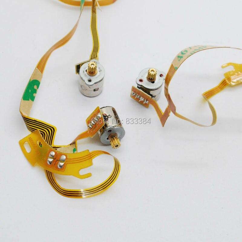 Neue 10 Stücke 2 Phase 4 Draht Mikroschrittmotor mit Kabel 3 5 v Dc ...