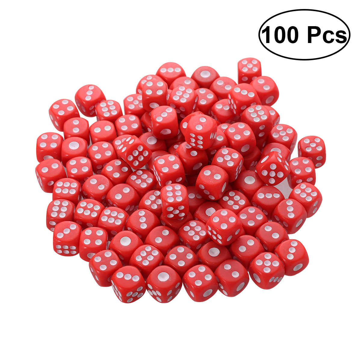 100 PCS Plastic Dices 6 Side Colored Dices for KTV Party Bar Gaming